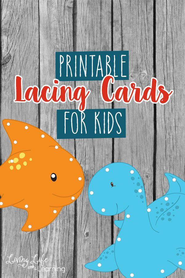 Have fun practicing your fine motor skills with these adorable printable lacing cards for kids