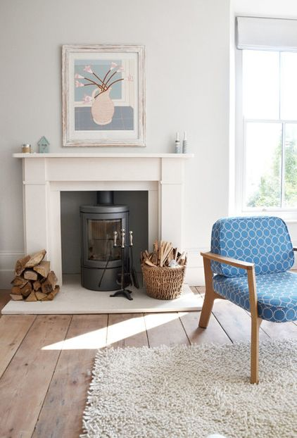 victorian homes .... Transitional Living Room by iroka