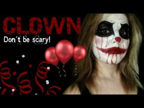 Scary CLOWN MakeUp Макияж Клоуна Halloween