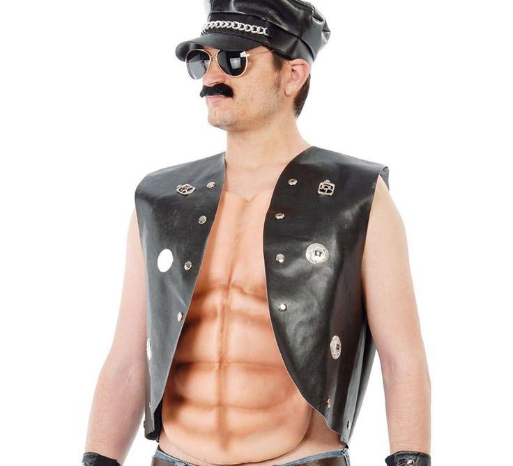 Chaleco negro de #Sado o #Punky para adultos. Simil de #cuero.  #Orgullo #OrgulloGay #OrgulloLGTB #OrgulloMadrid