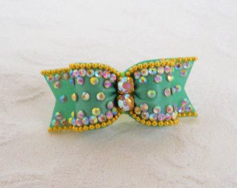 Dog Bow 5/8 Crystal Wave Dog Bow by AllAboutYoshi on Etsy