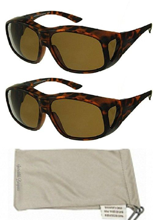 Men and Women Unisex Polarized Fit Over Sunglasses - Wear Over Prescription  Glasses. Size Large 730ff83c0c