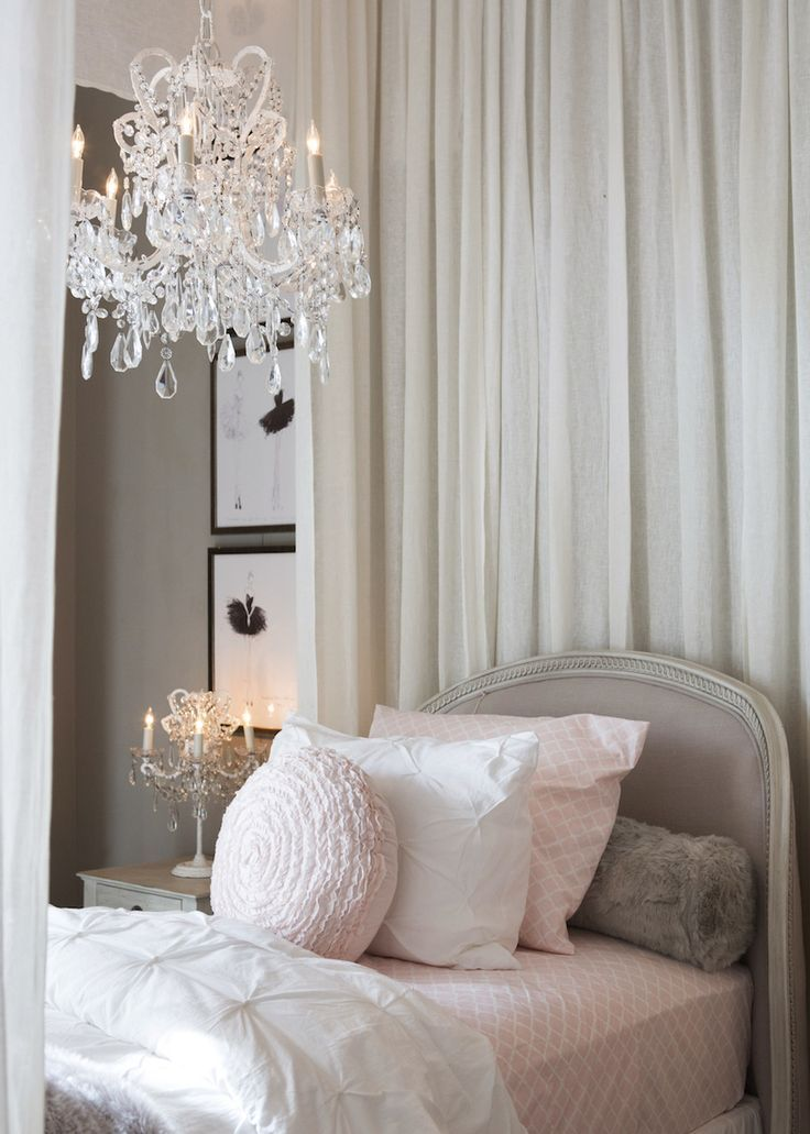 Girly bedroom in neutral colours with the palest hint of for Elegant neutral bedrooms