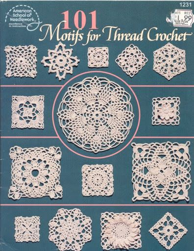 101 motif for thread crochet - Nicoleta Danaila - Álbuns da web do Picasa...THIS IS A FREE BOOK AND WRITTEN PATTERNS!!