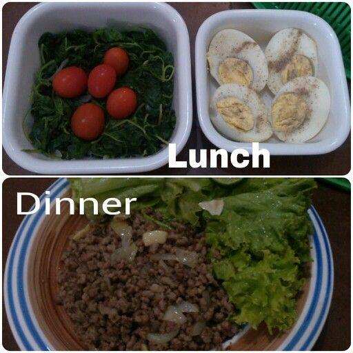 Diet Mayo menu 1st day.