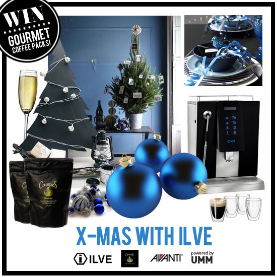 Enter our Pinterest Competition - Xmas with ILVE - for your chance to win an ILVE Coffee Machine and Gourmet coffee pack from Campos and Avanti!  Further details on how to enter on the 'Xmas with ILVE Competition' board.