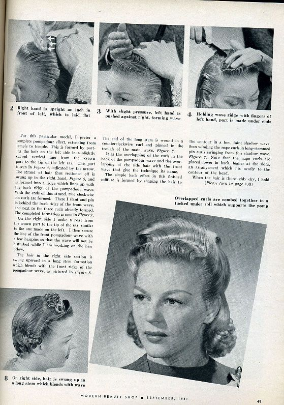 semi hair styles 1000 ideas about 1940s hair on 1940s 1355