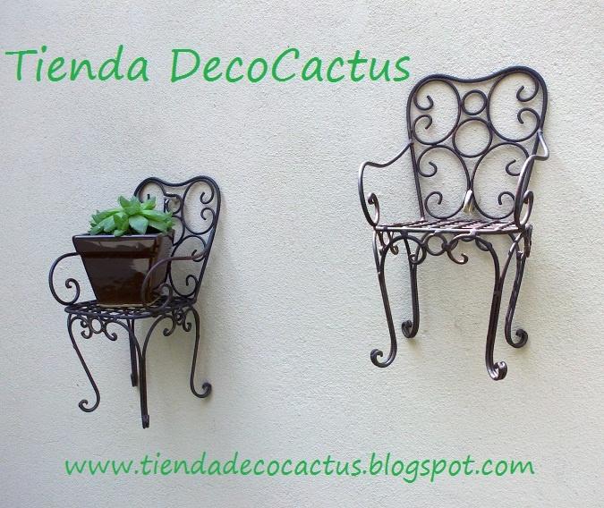 Tienda DecoCactus cactus crasas suculentas macetas de cemento cerámica banquetas romanas: Portamacetas muy originales en metal color óxido