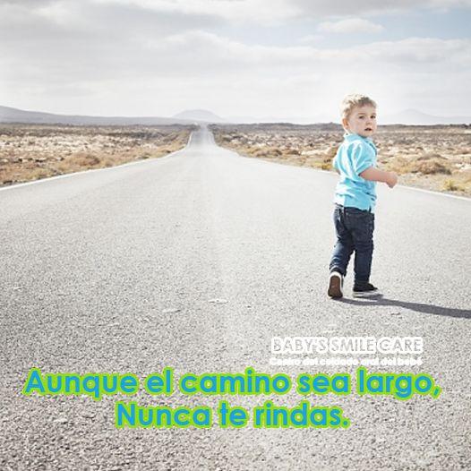 Aunque el camino sea largo, Nunca te rindas. ¡Feliz martes! #Frases #Bebé #Niños #DiasDeLaSemana