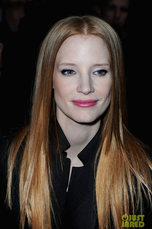Jessica Chastain Amanda Seyfried together with Givenchy Paris Fashion Show