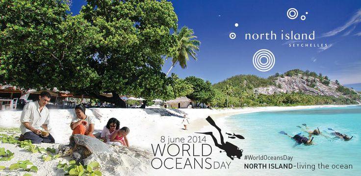 Celebrating World Oceans Day 2014 at North Island, Seychelles