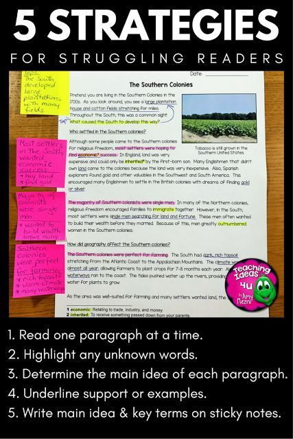 5 strategies that help struggling readers improve reading comprehension.