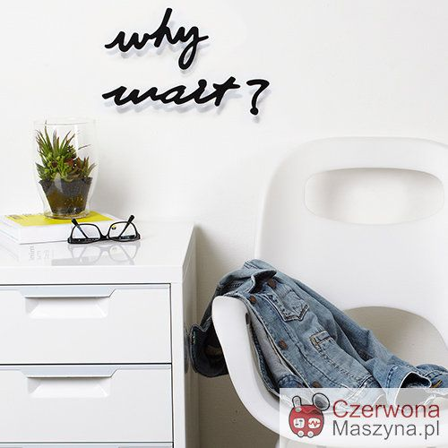 Dekoracja ścienna Umbra Mantra Wait 3 el. - CzerwonaMaszyna.pl