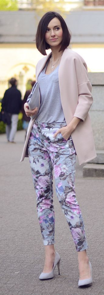 Floral Pants Spring Style by Daisyline