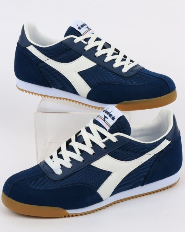 competitive price 074c1 8bc04 DIADORA BIRMINGHAM TRAINERS NAVY WHITE GUM