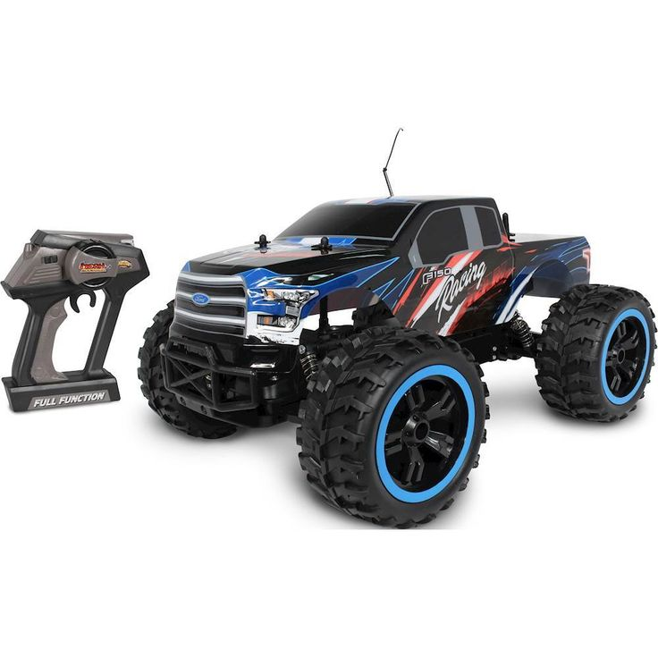 Nkok - Mean Machines 4x4 Ford F-150 RC Monster Truck - Black