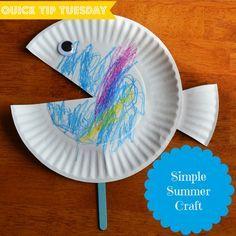 toddler summer craft | Camp Crafts for Kids -- Summer Camping Crafts