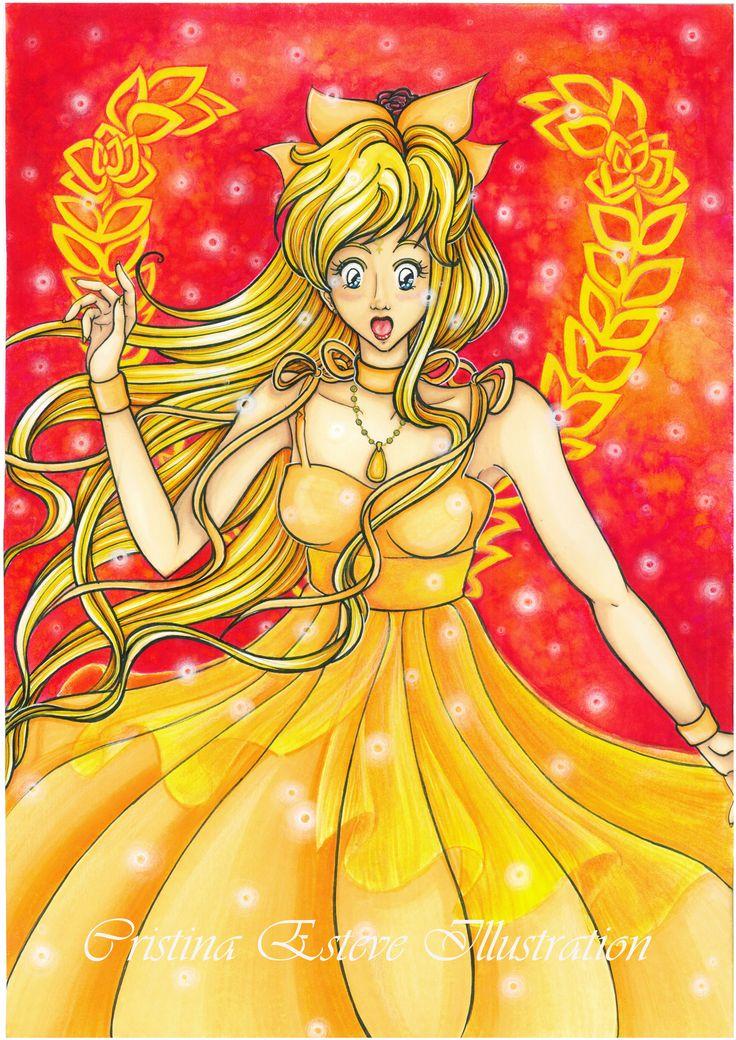 Princess Venus transformation - Fanart Sailor Moon