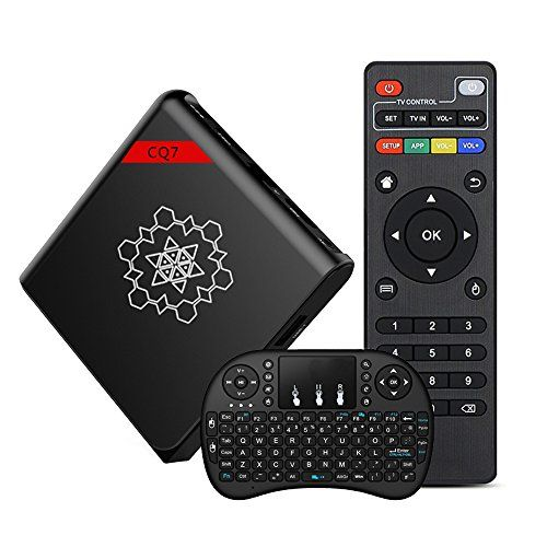 2017 Latest Android TV Box, Heckia Android 4K 6.0 Top Box S905X CQ7 with Wireless Keyboard Octa-core 64 Bit Bluetooth 4.0 2.4G WiFi Smart Pocket Size Player  【Come with FREE Wireless Keyboard】Come with Rechargeable 2.4G Mini Handheld Wireless Keyboard,3 in 1,Keyboard + mouse + touchpad,Using the box has never been easier.  【Fast Running Speed and Stable】Come packed best hardware on the market,S905X Quad Core cortex-A53 64bits,1GB RAM 8GB EMMC, Support 4K*2K H.265 Decoding.  【Operating ...