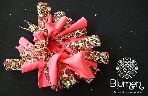 ~ Blumen ~ — Collet Fucsia con estampado floreado rosado — ♥