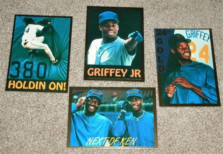 4 card set 1991 alrak set ken griffey jr gold