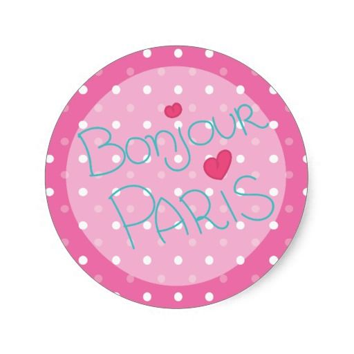 Girl's Pink Paris Mustache Birthday Party Classic Round Sticker
