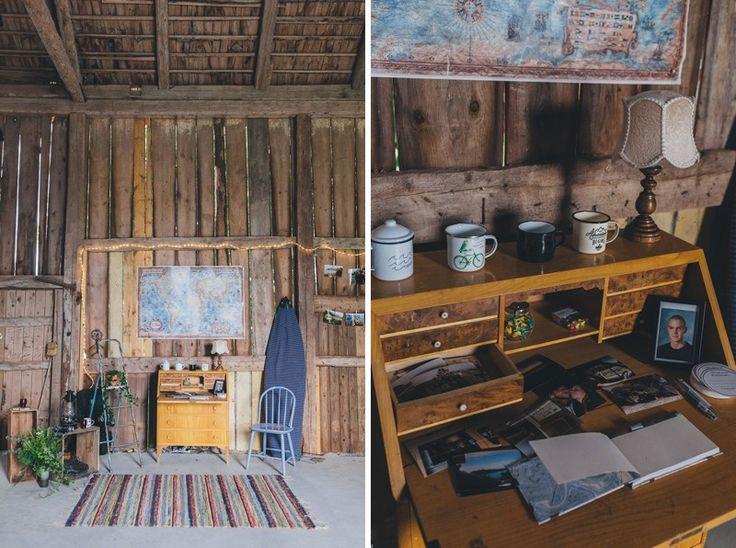 surfer details from this intimate rustic barn reception /  Bella & Carl's van-life wedding