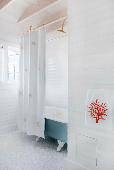 Fab Beachy Bath In Ocean City NJ Home By Dearborn Builders And Interiors Tory Haynes