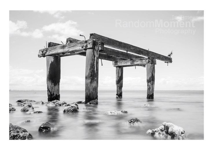 Seascape, old pier, Victoria, nothing like sitting in the water  for the perfect shot to share