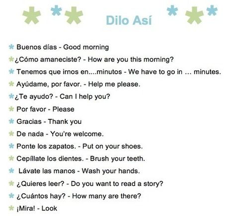 61 Common Spanish Phrases to Use With Kids – A Printable List. Plus other great preschool Spanish studies ideas.