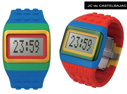 Relógios de Pulso LEGO do Estilista JC de Castelbajac!