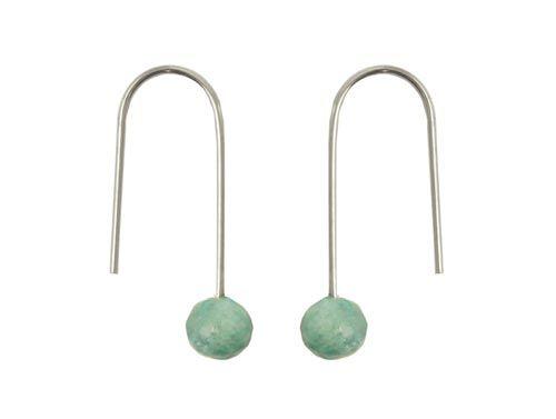 Øreringe med aquamarin  Til disse øreringe skal du bruge følgende materialer:  1 par sterlingsølv ørekroge med kugle 2 stk. anborede facet aquamarin 6mm + bidtang + lim