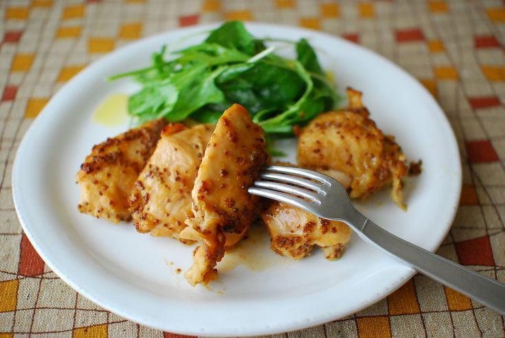 父の日に贈るスタミナ時短レシピですお味噌のコクとハチミツの相性が抜群で粒マスタードの酸味が後をひく美味しさです