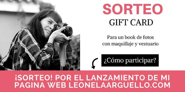 #Sorteo de una gift card validad para hacerse un #bookdefotos con maquillaje y vestuario incluido por el lanzamiento de mi página web. Cómo participar y ganar? >> leonelaarguello.com/sorteo-book-fotos #fotografa #cordoba #15años #sesiondefotos