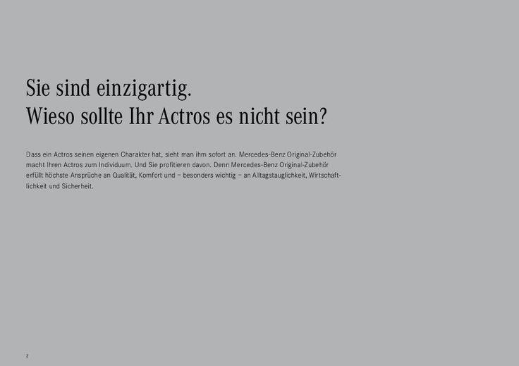 Broschüre Actros Zubehör - Mercedes-Benz Deutschland-Broschüre Actros Zubehör - Mercedes-Benz Deutschland