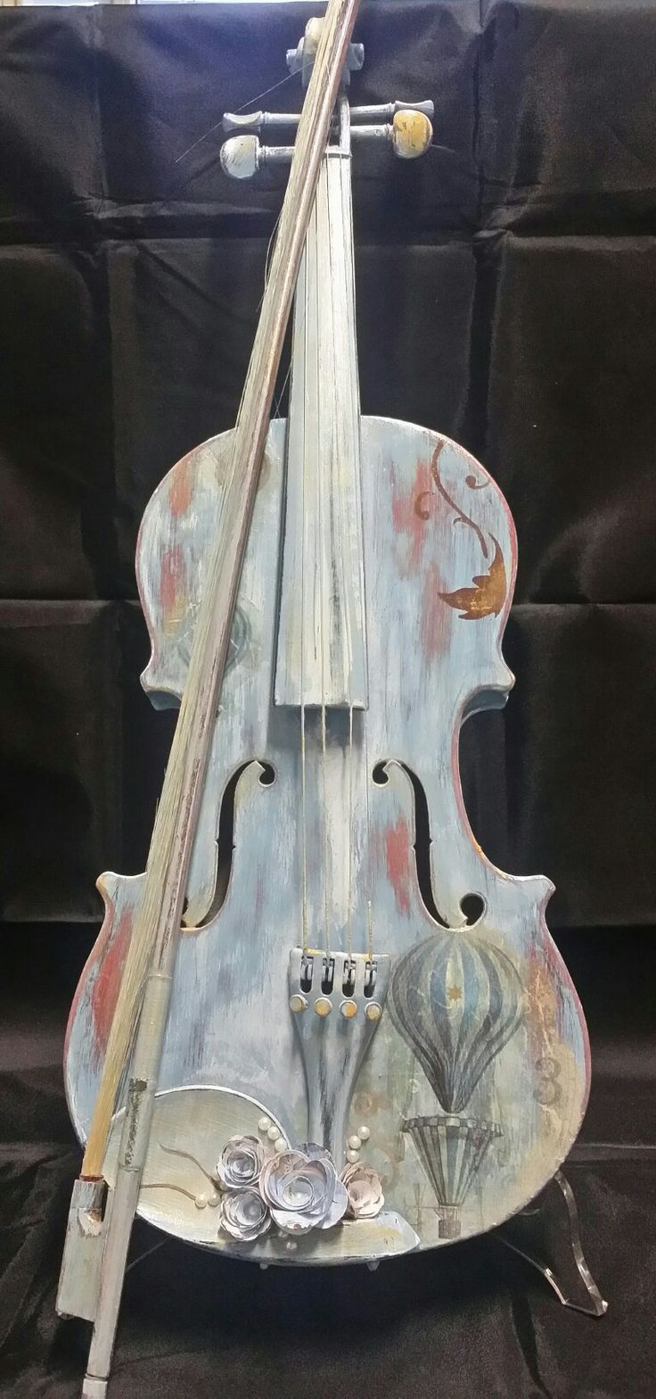Violini romantici Romantic violins  #shabby#shabbychicdecor #imperia #imieicorsi #lemieopere #imieicorsiadimperia #decoupage