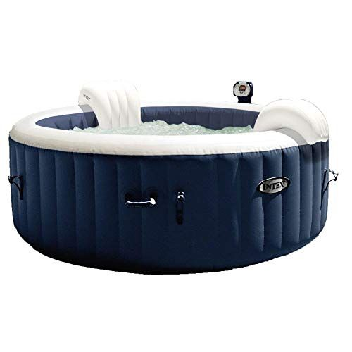 Intex Spa Gonflable Purespa Blue Navy 4 Places In 2020 Inflatable Hot Tubs Portable Hot Tub Best Inflatable Hot Tub