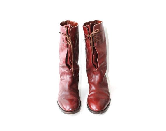 1970's Oxblood Red Men's Riding Boots by OiseauVintage on Etsy, $59.00