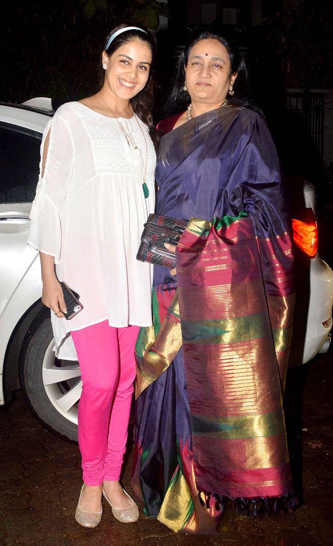 Genelia D'Souza with Vaishali Deshmukh at a screening of 'Lai Bhari'. #Style #Bollywood #Marathi #Fashion #Beauty