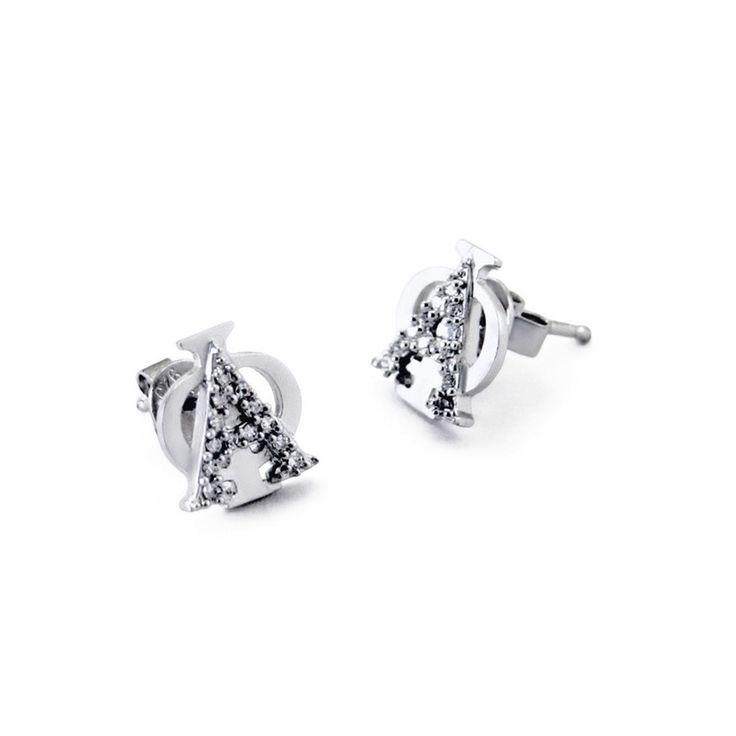 Alpha Phi Badge Earrings