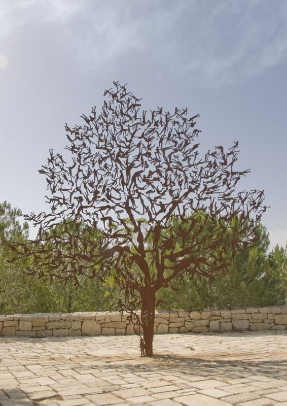 for is the tree of the field man - Yad Vashem   israelpublicart.com/images/public_art/large/for_is_the_tree.jpg