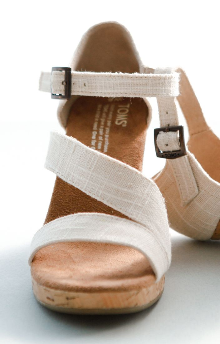 Wedding season is right around the corner! Give back on your special day with the TOMS Clarissa Wedge. They have comfort and style so you can dance all night!