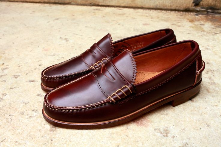 Beautiful handsewn penny loafers.