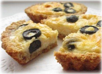 Овсяные тарталетки с творожно-сырной начинкой