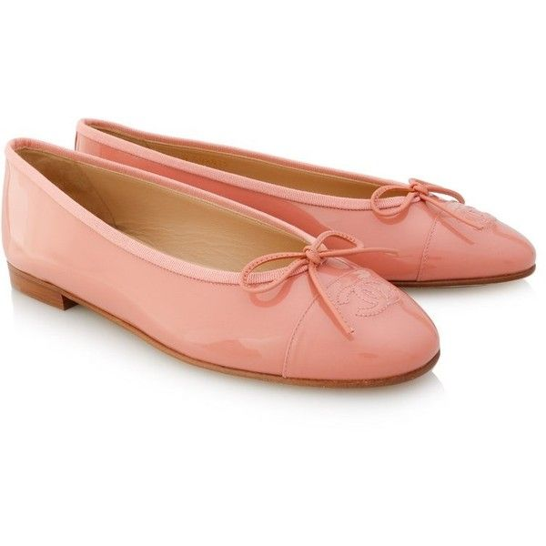 Chanel Ballerina Flats (10.623.920 IDR) ❤ liked on Polyvore featuring shoes, flats, pink, flat pumps, rose pink shoes, pink shoes, ballerina flat shoes and ballerina flats