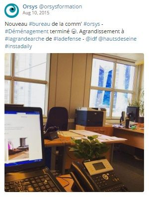Qualité de vie au travail #QVT Espaces de travail, locaux - Service Com' - Découvrez nos offres d'emploi : http://www.orsys.fr/?mode=recrutement
