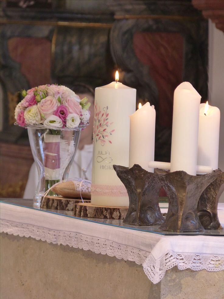 59 best Hochzeitskerzen images on Pinterest