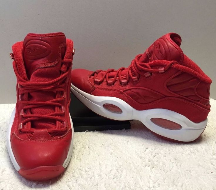 d9f98f602c3 ... ORIGINAL REEBOK QUESTION MID RED ALLEN IVERSON BASKETBALL SHOES SIZE 11  NO BOX  Reebok ...