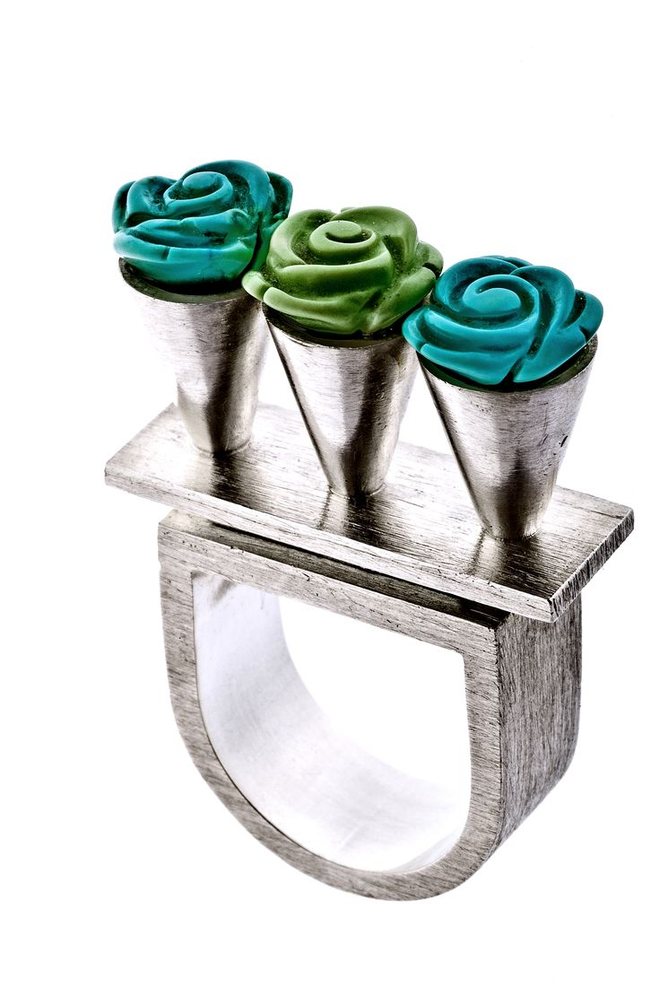 Ring: silver,turquoise www.gaalgyongyver.hu