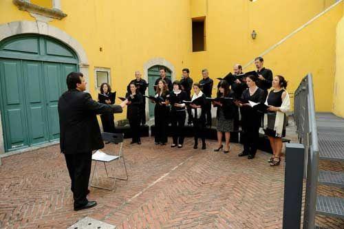 Coro de Câmara Outros Cantos, de Sintra, Portugal, na Fábrica da Pólvora, 17 de junho de 2013
